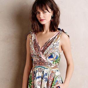 🔥Anthropologie Collette Dinnigan 100% silk Dress